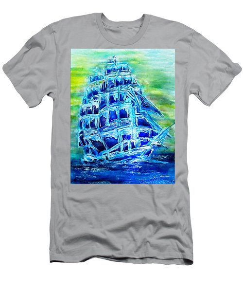 Tallship Alcohol Inks Men's T-Shirt (Athletic Fit)