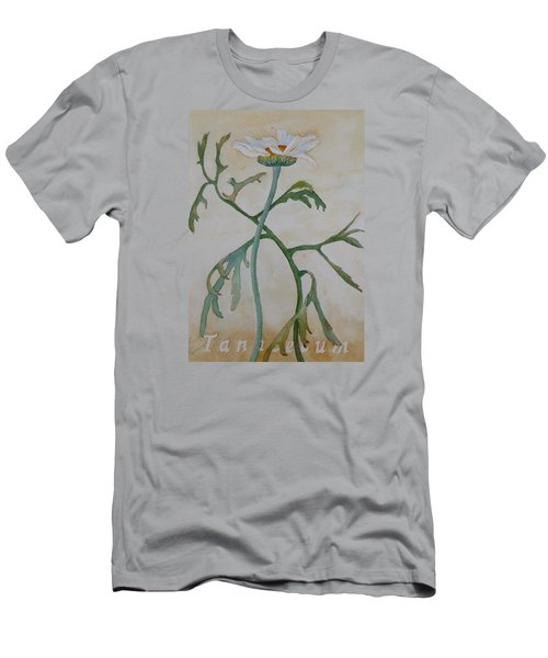 Tanacetum Men's T-Shirt (Slim Fit) by Ruth Kamenev