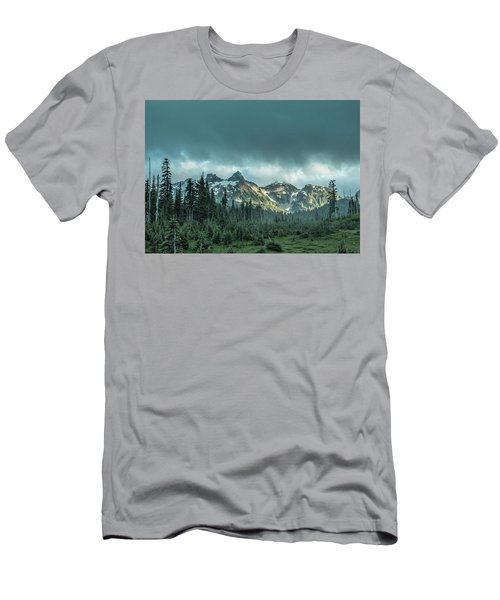 Tatoosh With Storm Clouds Men's T-Shirt (Athletic Fit)