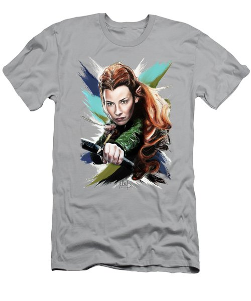 Tauriel / Evangeline Lilly / Men's T-Shirt (Athletic Fit)