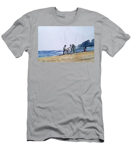 Teach Them To Fish Men's T-Shirt (Slim Fit) by Tim Johnson