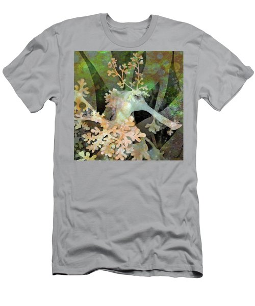 Teal Leafy Sea Dragon Men's T-Shirt (Athletic Fit)