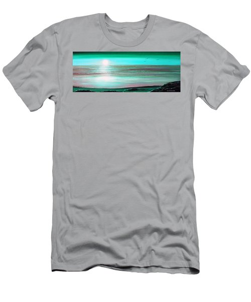 Teal Panoramic Sunset Men's T-Shirt (Athletic Fit)