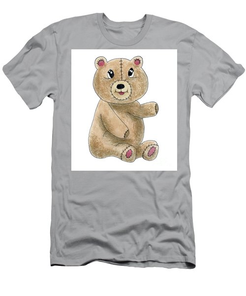 Teddy Bear Watercolor Painting Men's T-Shirt (Athletic Fit)
