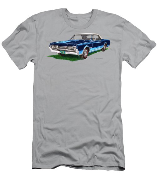 Tee Shirt Art 1967 Oldsmobile 4 4 2 Convertible Men's T-Shirt (Athletic Fit)