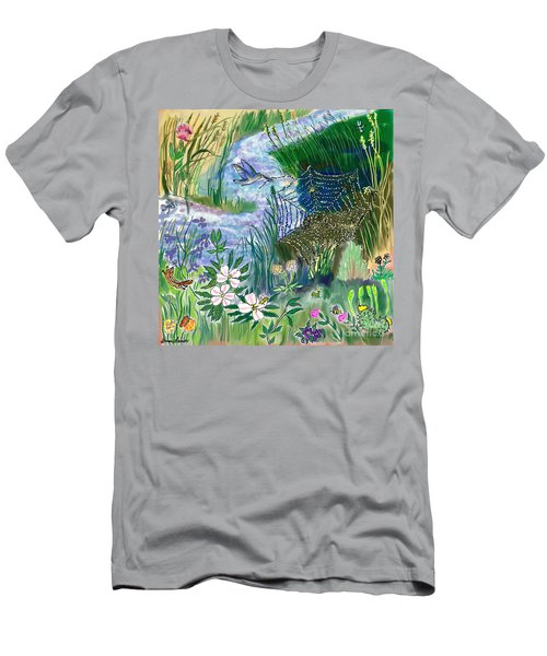 Teen Drawing -- Hummingbird Collecting Silk Men's T-Shirt (Athletic Fit)