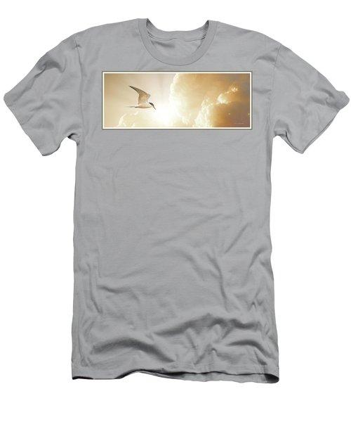 Tern In Flight, Spiritual Light Of Dusk Men's T-Shirt (Athletic Fit)