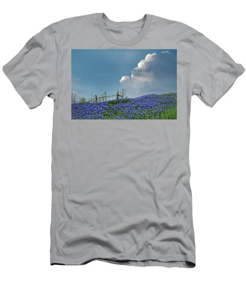 Men's T-Shirt (Slim Fit) featuring the photograph Texas Bluebonnets And Spring Showers by David and Carol Kelly