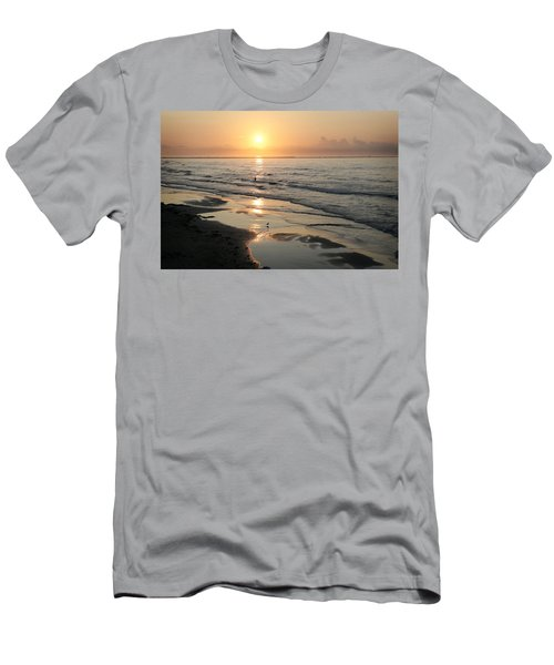Texas Gulf Coast At Sunrise Men's T-Shirt (Slim Fit) by Marilyn Hunt