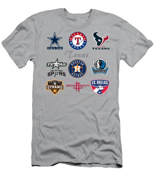 Texas Professional Sport Teams Men's T-Shirt (Athletic Fit)
