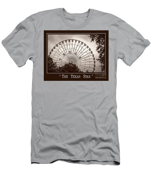 Texas Star In Sepia Men's T-Shirt (Athletic Fit)