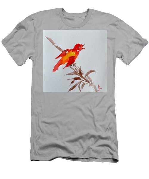 Thank You Bird Men's T-Shirt (Athletic Fit)