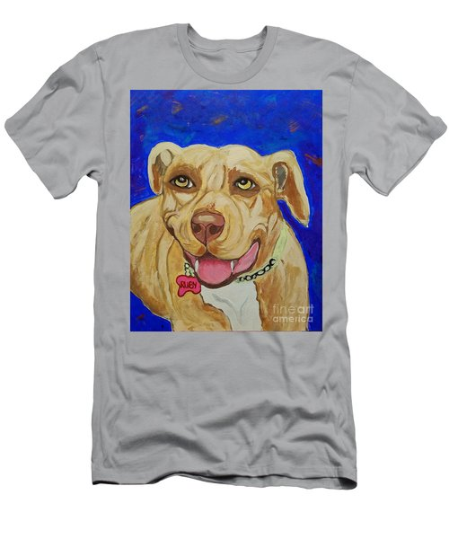 Men's T-Shirt (Slim Fit) featuring the painting That Smile by Ania M Milo