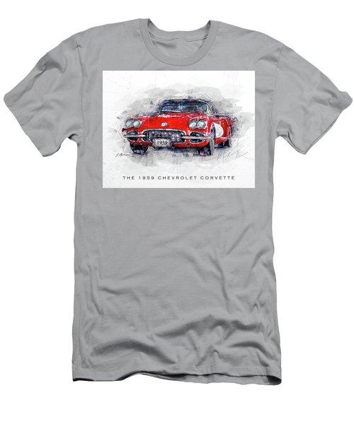 The 1959 Chevrolet Corvette Men's T-Shirt (Athletic Fit)