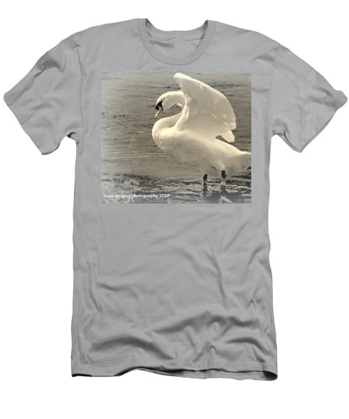 The Art Of The Swan  Men's T-Shirt (Athletic Fit)