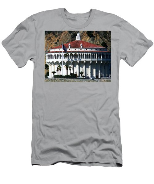 Men's T-Shirt (Slim Fit) featuring the photograph The Avalon Casino by Polly Peacock