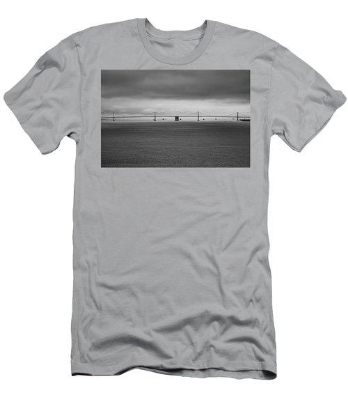 The Bay Bridge B/w Men's T-Shirt (Athletic Fit)