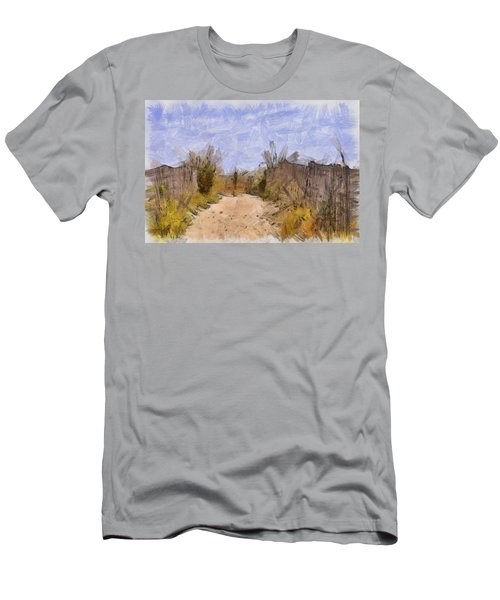 The Beach Awaits Men's T-Shirt (Athletic Fit)