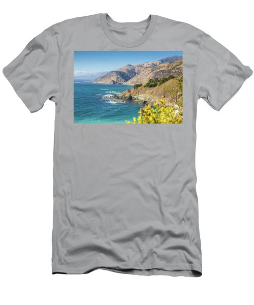 The Beauty Of Big Sur Men's T-Shirt (Slim Fit) by JR Photography