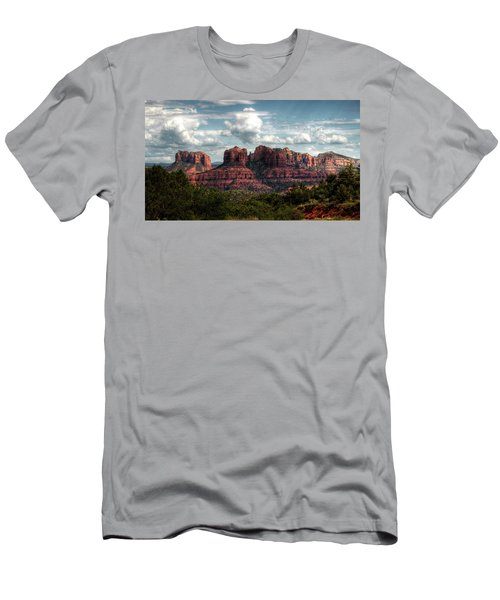 Men's T-Shirt (Athletic Fit) featuring the photograph The Beauty Of The Red Rocks  by Saija Lehtonen