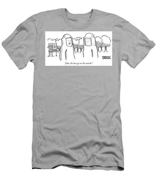 The Bees Go On The Outside Men's T-Shirt (Athletic Fit)