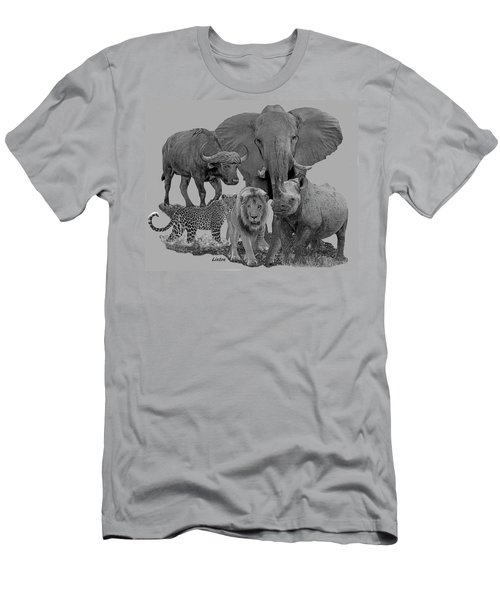 Men's T-Shirt (Athletic Fit) featuring the digital art The Big Five by Larry Linton
