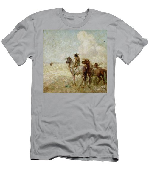 The Bison Hunters Men's T-Shirt (Slim Fit) by Nathaniel Hughes John Baird