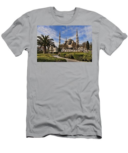The Blue Mosque In Istanbul Turkey Men's T-Shirt (Slim Fit) by David Smith
