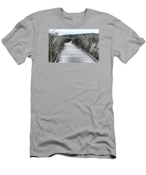 Men's T-Shirt (Slim Fit) featuring the photograph The Boardwalk by Michaela Preston