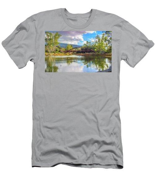 The Bridge At Vasona Lake Digital Art Men's T-Shirt (Athletic Fit)
