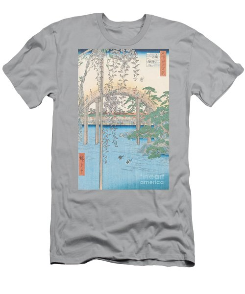 The Bridge With Wisteria Men's T-Shirt (Slim Fit) by Hiroshige