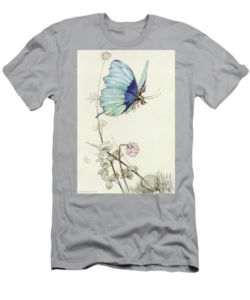 The Butterfly Took Wing, And Mounted Into The Air With Little Tom Thumb On His Back Men's T-Shirt (Athletic Fit)