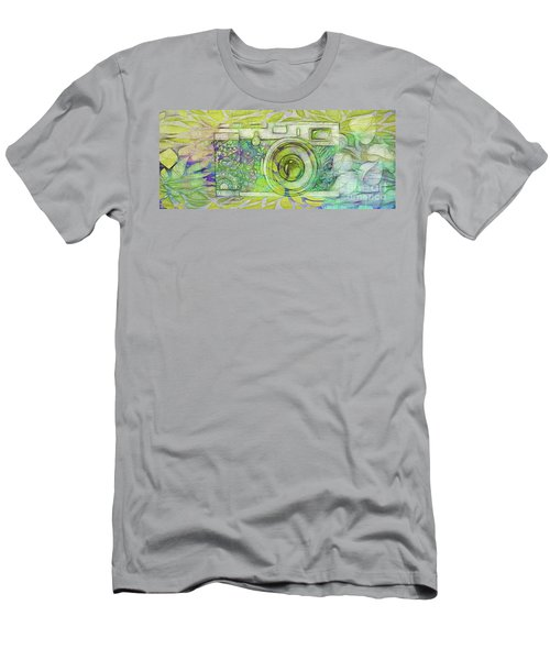 Men's T-Shirt (Slim Fit) featuring the digital art The Camera - 02c5bt by Variance Collections