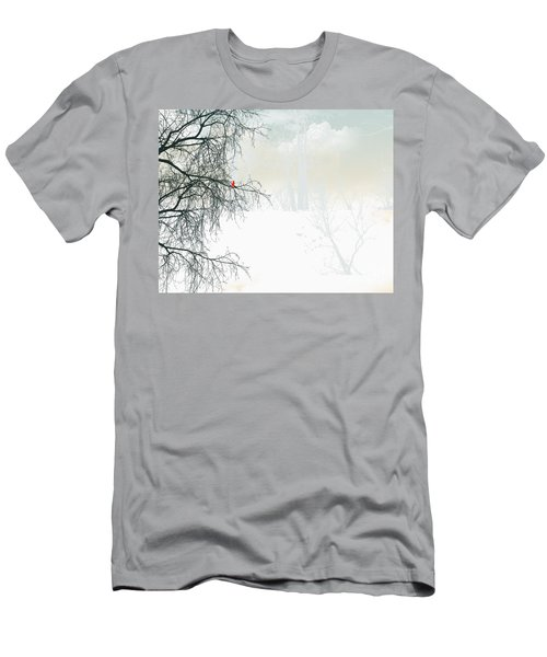 Men's T-Shirt (Slim Fit) featuring the digital art The Cardinal by Trilby Cole