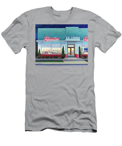 The Carnation Ice Cream Shop Men's T-Shirt (Athletic Fit)