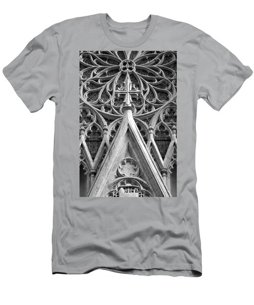 The Cathedral Of St. Patrick Close Up Men's T-Shirt (Slim Fit) by Michael Dorn