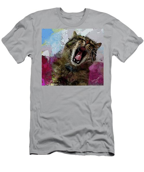 The Cat's Meow Men's T-Shirt (Slim Fit) by Ted Azriel