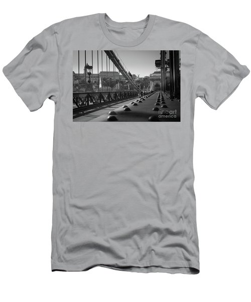 The Chain Bridge, Danube Budapest Men's T-Shirt (Athletic Fit)