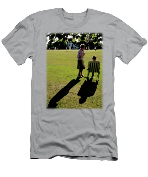 The Cricket Match Men's T-Shirt (Slim Fit) by Jon Delorme