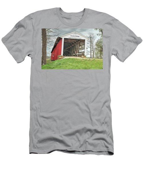 The Crooks Covered Bridge Men's T-Shirt (Slim Fit) by Harold Rau