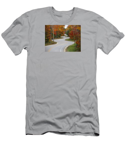 The Curvy Road Men's T-Shirt (Athletic Fit)
