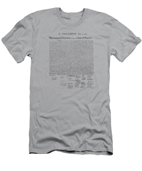 The Declaration Of Independence Men's T-Shirt (Slim Fit) by War Is Hell Store