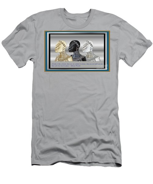 Men's T-Shirt (Slim Fit) featuring the digital art The Divine Sisters by Jacqueline Lloyd
