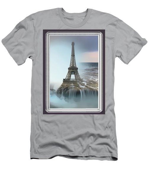 The Eiffel Tower In Montage Men's T-Shirt (Athletic Fit)