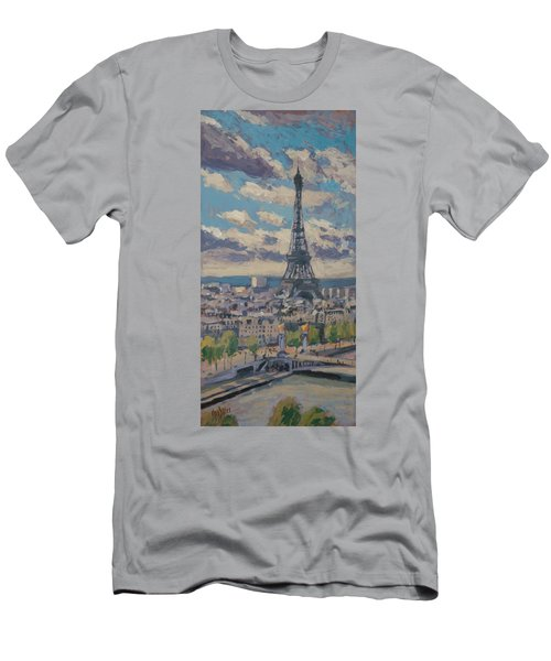 The Eiffel Tower Paris Men's T-Shirt (Athletic Fit)