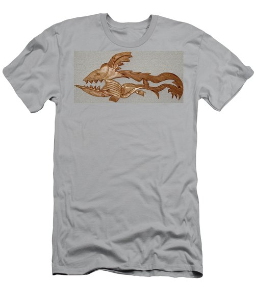 The Fish Skeleton Men's T-Shirt (Athletic Fit)