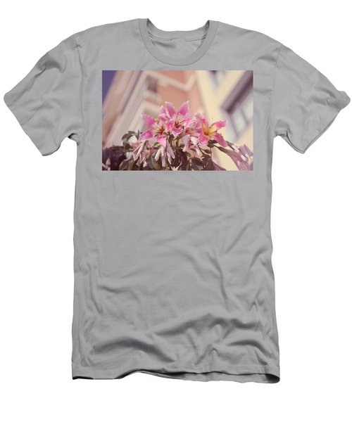 Men's T-Shirt (Athletic Fit) featuring the photograph The Flowers Of Malaga by Jenny Rainbow