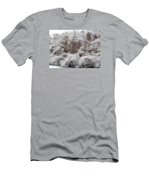 Men's T-Shirt (Slim Fit) featuring the photograph The Forest Hush by Lynda Lehmann