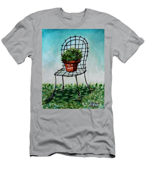The French Garden Cafe Chair Men's T-Shirt (Athletic Fit)