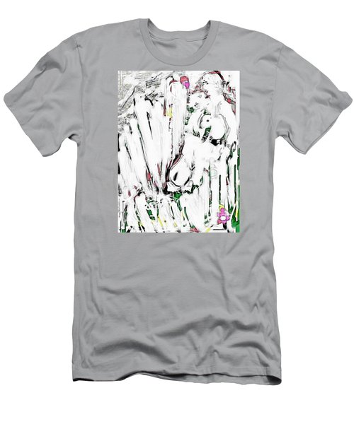 The Girl With Lambs Men's T-Shirt (Athletic Fit)